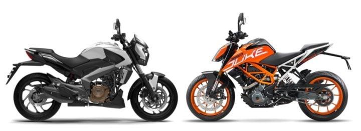 Bajaj Dominar 400 vs KTM 390 Duke comparison