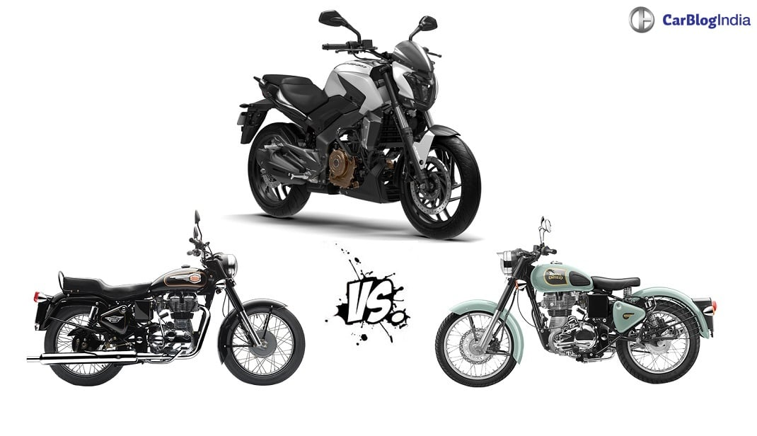 Bajaj Dominar 400 Vs Royal Enfield 350 Carblogindia