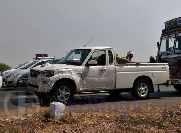 2017 Mahindra Scorpio Getaway Pick Up SPIED!