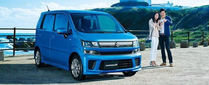 2017 suzuki wagon r blue front