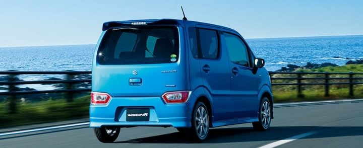 2017 suzuki wagon r blue rear