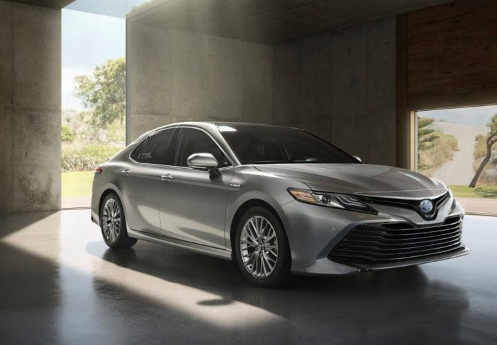 upcoming toyota cars in India 2018 toyota camry hybrid official image