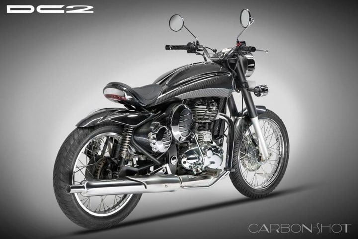 Modified Royal Enfield Classic by DC Design rear angle