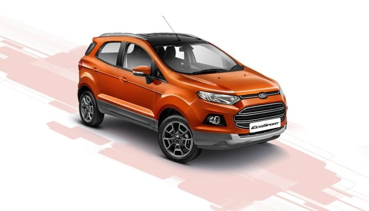 ford ecosport platinum edition front angle