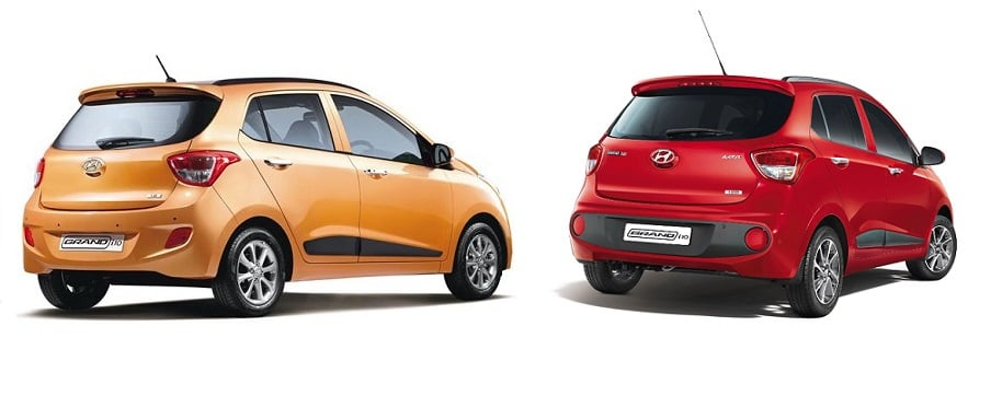 hyundai grand i10 old vs new rear angle