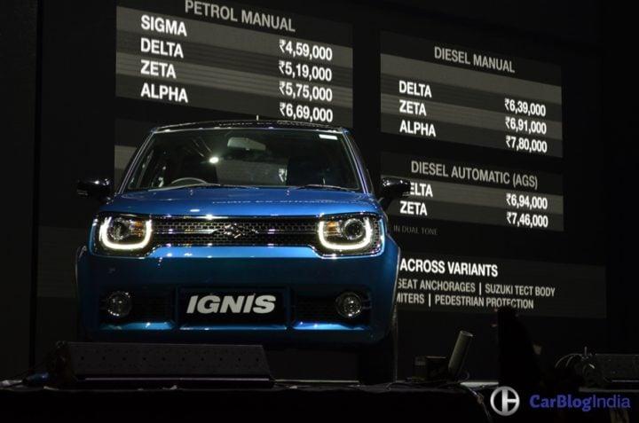 maruti suzuki ignis price - official launch image