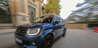 maruti ignis test drive review images action front close