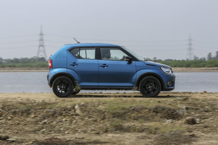 maruti ignis test drive review images side action