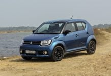 maruti ignis test drive review images front angle action