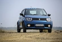 maruti ignis test drive review images front action