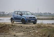 maruti ignis test drive review images front angle