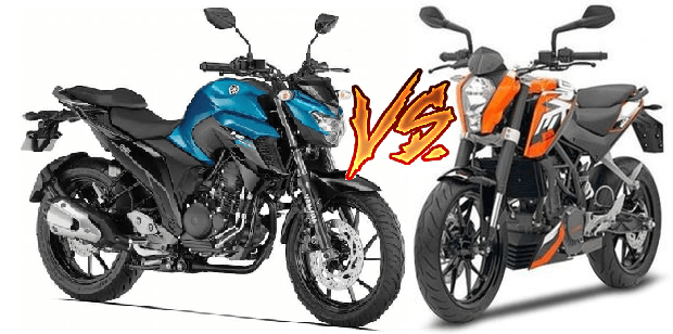 yamaha fz25 vs ktm 200 duke comparison images