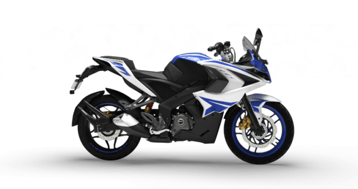 2017 bajaj pulsar rs200 blue