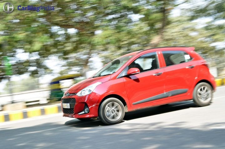 2017 hyundai grand i10 facelift test drive review action shot