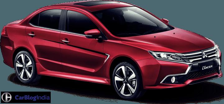 New 2017 Mitsubishi Lancer Grand Lancer Front Angle Image Red