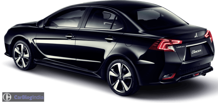 New 2017 Mitsubishi Lancer Grand Lancer Rear Angle Image Black