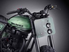 Royal Enfield Classic 500 Green Fly images side view