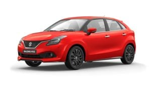 maruti baleno rs colour fire red