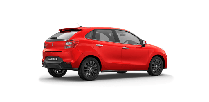 maruti baleno rs official image wallpaper rear angle red