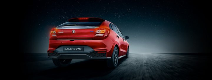 maruti baleno rs official image wallpaper rear angle