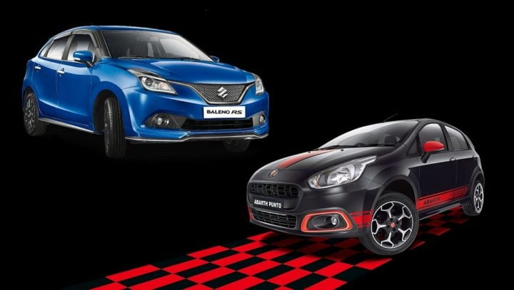 maruti baleno rs vs fiat punto abarth