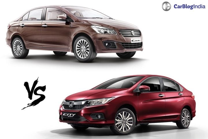 Honda City Petrol Car Comparison