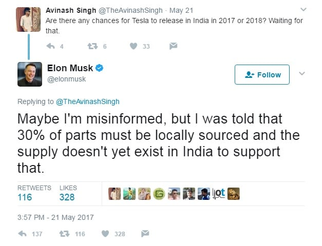 tesla coming to india elon musk tweet