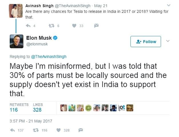 tesla coming to india elon musk tweet