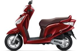 2017 honda aviator colour rebel red
