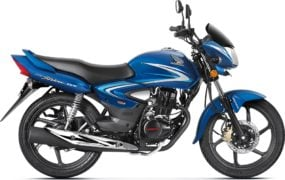 2017 honda cb shine front angle colours athletic blue