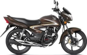 2017 honda cb shine front angle colours mapple brown