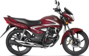 2017 honda cb shine front angle colours rebel red