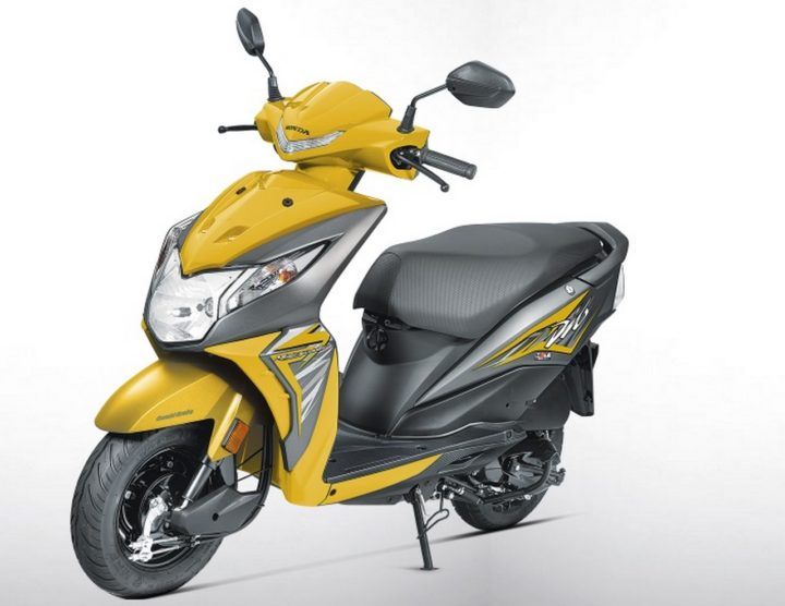 2017 honda dio images yellow colour