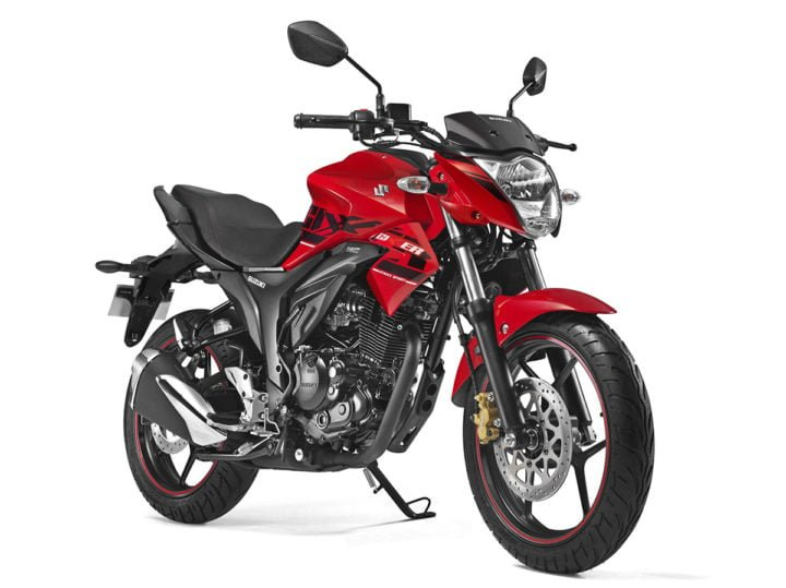 2017 suzuki gixxer official images red front angle