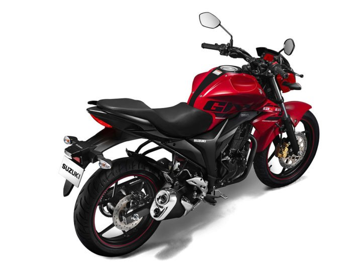 2017 suzuki gixxer official images red rear angle