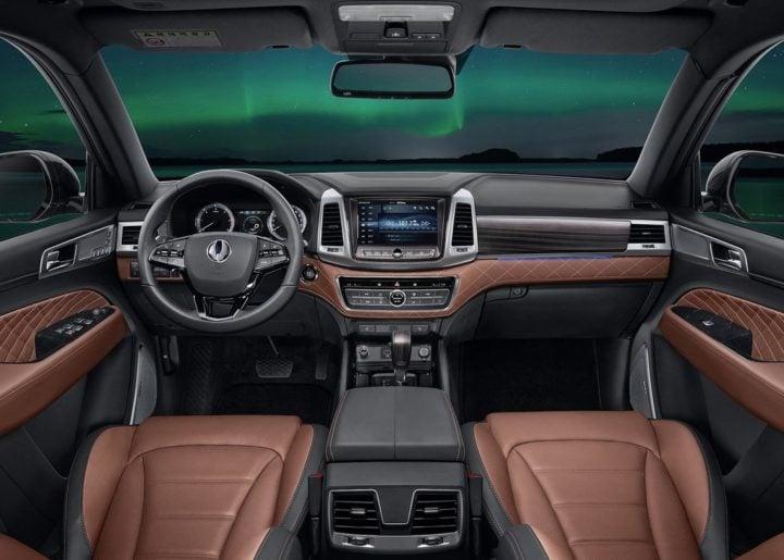 2018 Mahindra SsangYong Rexton interiors dashboard