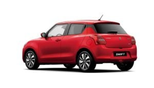 2018 maruti suzuki swift official images rear angle
