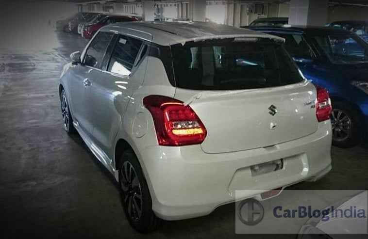 2018 maruti swift rs india rear