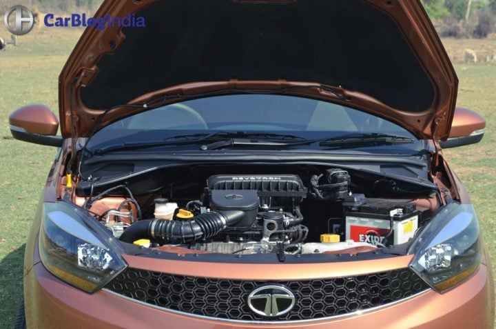 tata tigor test drive review images engine compartment