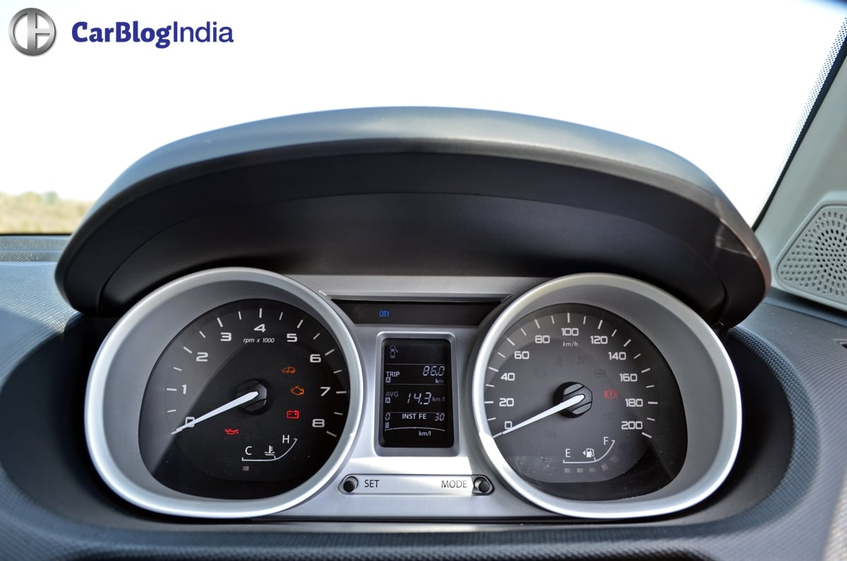 tata tigor test drive review images interior speedo