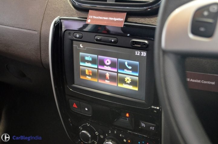 new nissan terrano 2017 facelift touchscreen