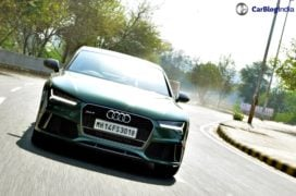 audi rs7 sportback performance review imgaes front action shot