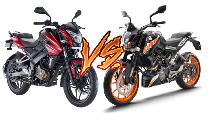 bajaj pulsar ns200 vs ktm duke 200