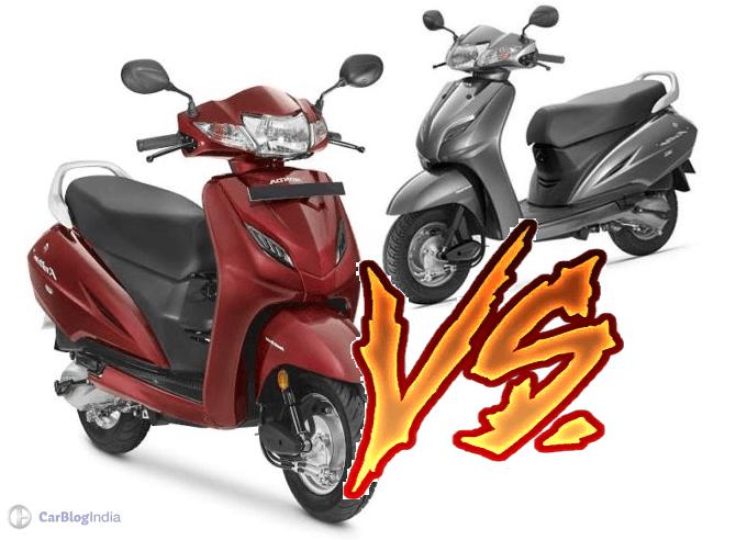 honda activa 4v vs activa 3g comparison