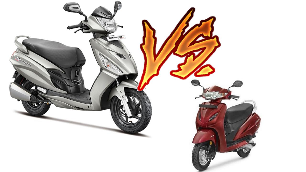 Stupendous Honda Activa Vs Hero Maestro Edge Comparison Of Price Caraccident5 Cool Chair Designs And Ideas Caraccident5Info