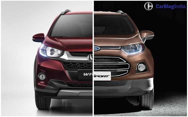 honda wrv vs ford ecosport comparison of price  specs  features