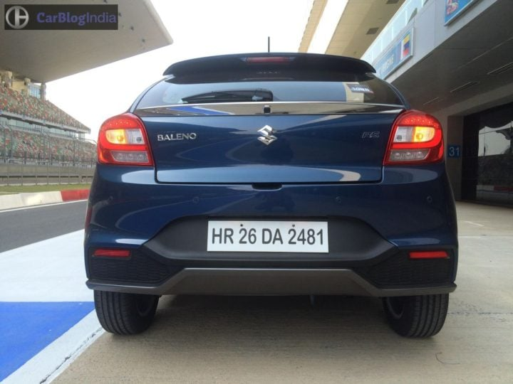 maruti baleno rs test drive review images rear