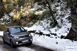 maruti ignis amt petrol review images front angle