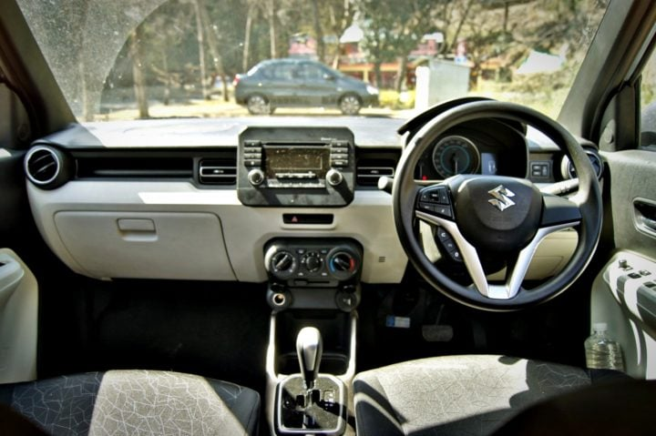 maruti ignis amt petrol review images interior