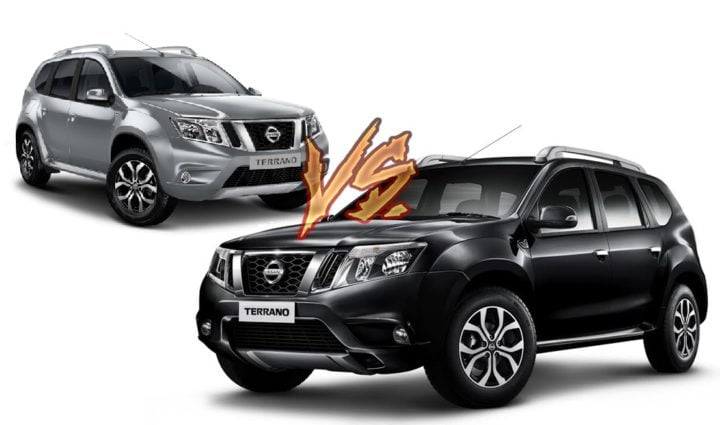 new 2017 nissan terrano vs old model comparison